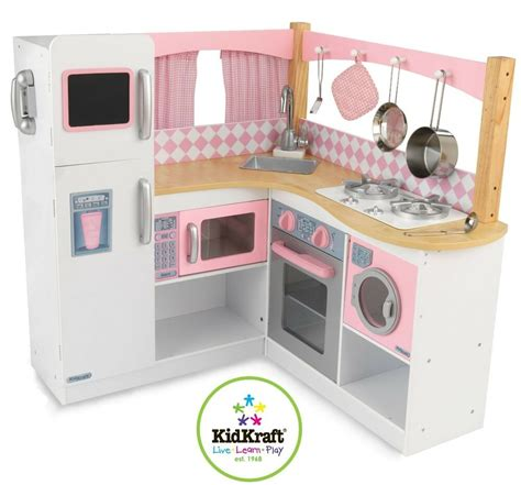 kidkraft grand gourmet corner kitchen kids pretend cooking play toddler set pink ebay