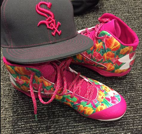 cubs white sox players wear special cleats  mothers