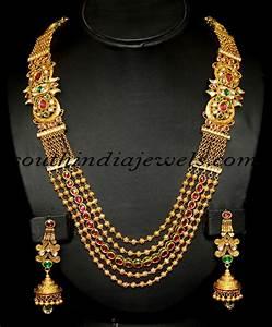 Indian Antique Jewellery : Royal Gold Haram set | Antique ...