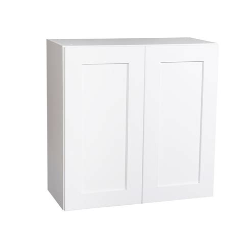 white shaker wall cabinets krosswood doors ready to assemble 27x30x13 in shaker 2