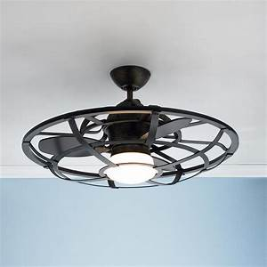 Ceiling fans with lights fan industrial cage
