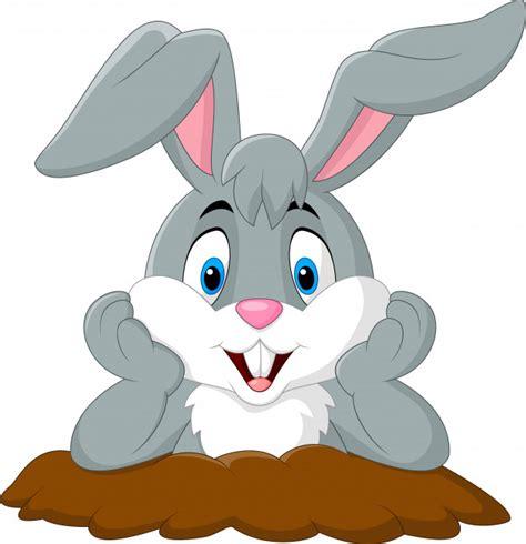 Conejo de dibujos animados salir del agujero Descargar