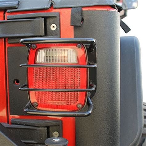 jeep wrangler light covers e autogrilles black jeep wrangler tail light guards