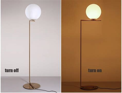 Nordic Glass Bubble Ball Floor Lamp Gold Body Art Round