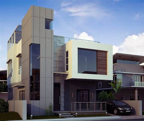Small Two Story House Plans Narrow Lot Modern Designs And