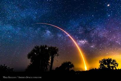 Spacex Launch Falcon Cape Space Canaveral Rocket
