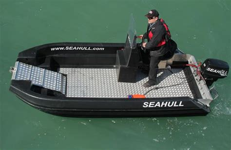 Boat Hull Whitener seahull cat with drop front hull access small
