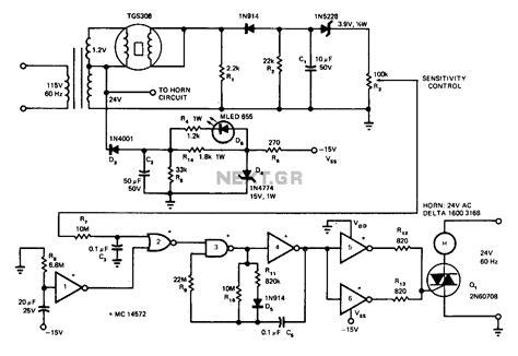 Gas Detector Circuit Diagram Wiring Diaram For