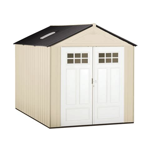 rubbermaid garden tool storage shed shop rubbermaid storage shed common 7 ft x 10 ft actual