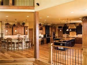 Rustic Open Kitchen Floor Plan Luxury