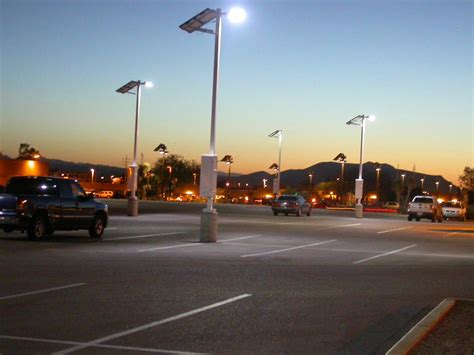 solar powered led parking lot lights greenlytes