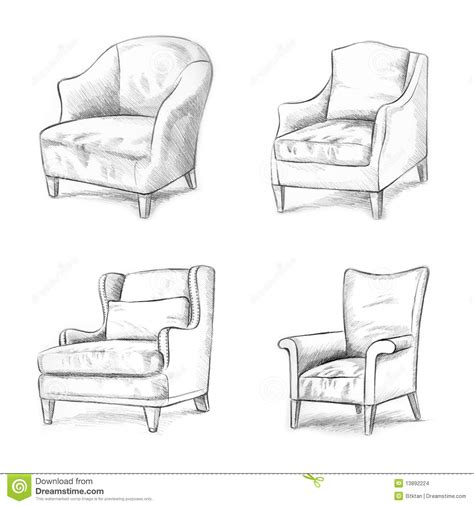 Types Of Chairs For Office chair sketching stock images image 13892224