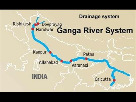 ganga river system physical geography  india youtube