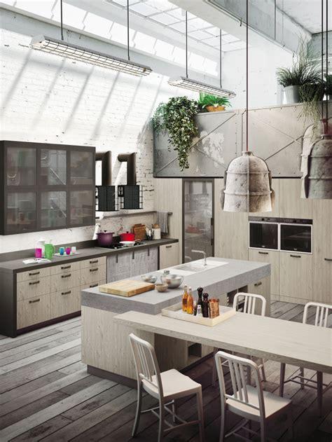 kitchen loft design ideas industrial loft kitchen with light wood in design digsdigs 5389