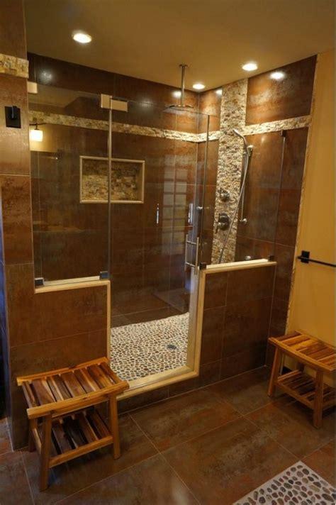 beautiful bathroom design  large unique walk  shower