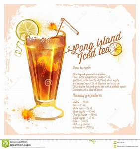 Сocktails Long Island Iced Tea Stock Vector Image: 43173678