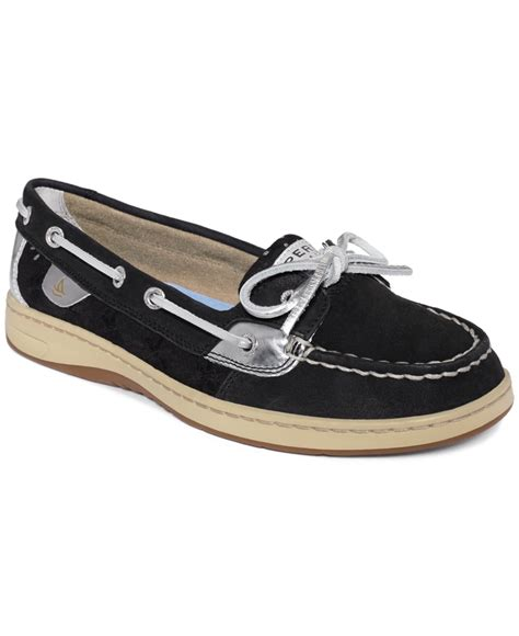 Top Boat Shoes 2015 by Sperry Top Sider S Angelfish Boat Shoes In Black Lyst