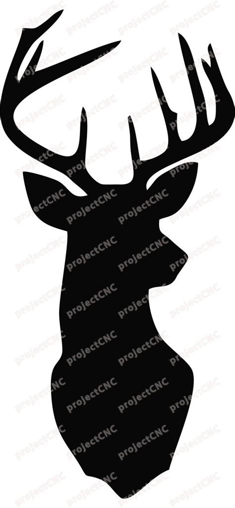 deer head wall art decor stag head antlers cnc cut file