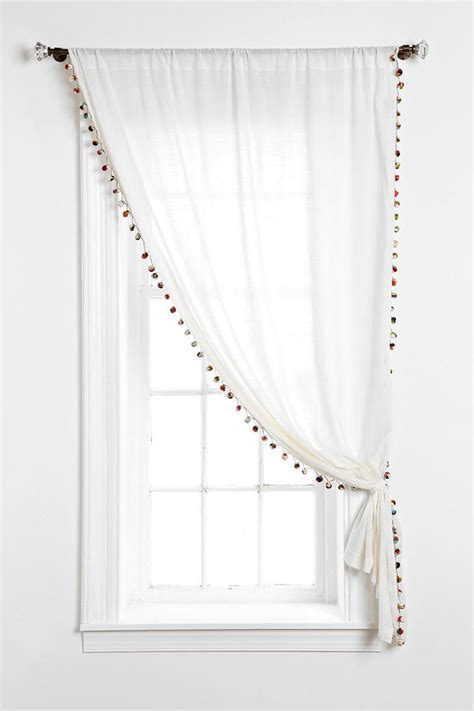 17 best ideas about pom pom curtains on window