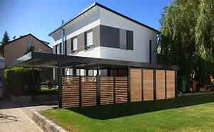 Haus Mit Doppelcarport : myport doppelcarport aus stahl mit integriertem ger teraum ~ Articles-book.com Haus und Dekorationen