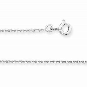Chaine Homme Or Blanc : chaine forcat or blanc 375 diamant e 1 6mm 50cm ~ Dode.kayakingforconservation.com Idées de Décoration