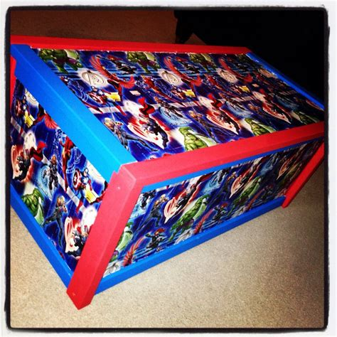 marvel avengers toy box handmade  inlovewithx  etsy