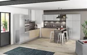Modele Cuisine En L : meuble de cuisine nos mod les de cuisine pr f r s c t maison ~ Teatrodelosmanantiales.com Idées de Décoration