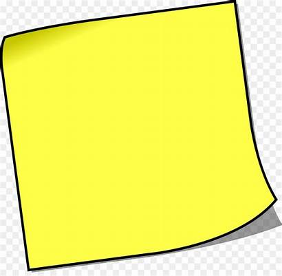 Clip Note Sticky Paper Notes Yellow Square