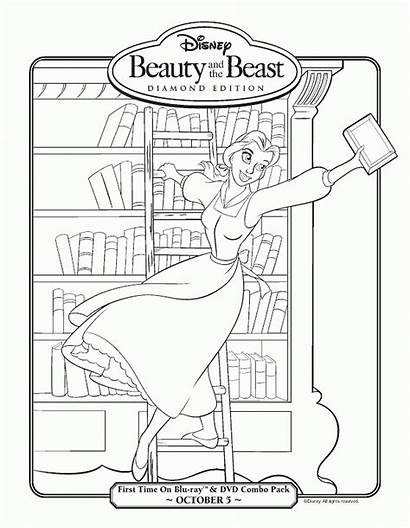 Coloring Library Pages Belle Beast Beauty Week