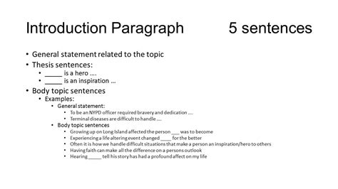 how to write a self introduction paragraph