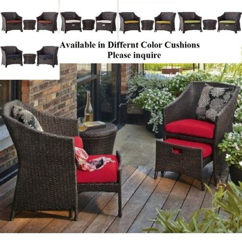 outdoor  pc bistro conversation set table chairs nesting