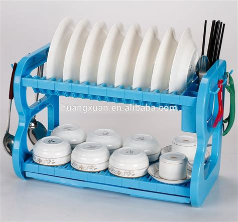 Kitchen Accessories Plastic Dish Rack With Cutlery Basket