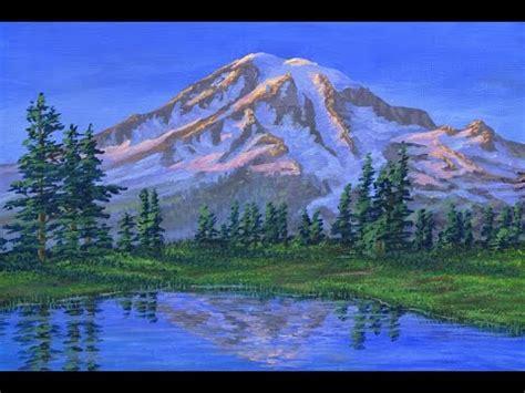 dipingere la montagna  ghiacciai al tramonto