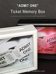 diy ticket stub memory box
