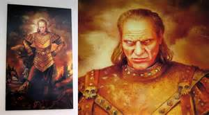 cutlery kitchen knives lifesize vigo the carpathian replica painting from ghostbusters 2 the green