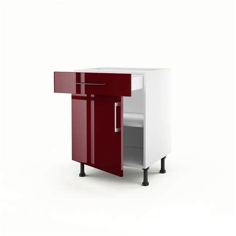 pose de cuisine leroy merlin meuble de cuisine bas 1 porte 1 tiroir griotte h