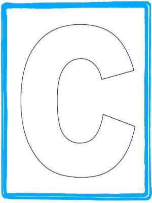 C Template Preschool Letter Craft For Letter C Alphabet Letter C