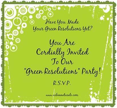 Start Resolutions Urbannaturale Eco Friendly Party Invite