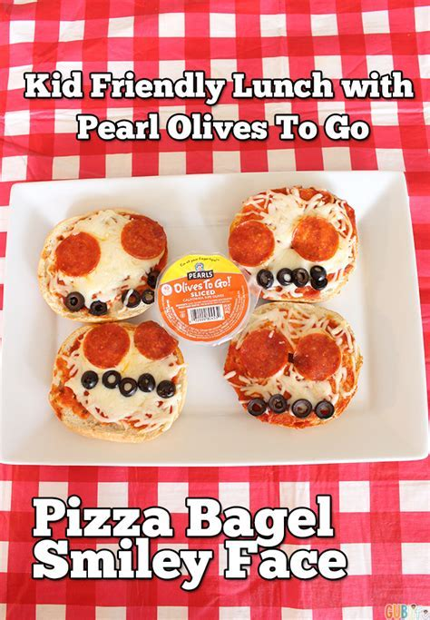 Kid Friendly: Pizza Bagel with Pearls Olives To Go   GUBlife