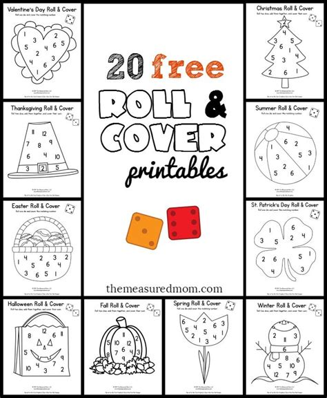 20 free roll and cover math ideas preschool math 903 | fe596c9061777022467cb81cf66d81de
