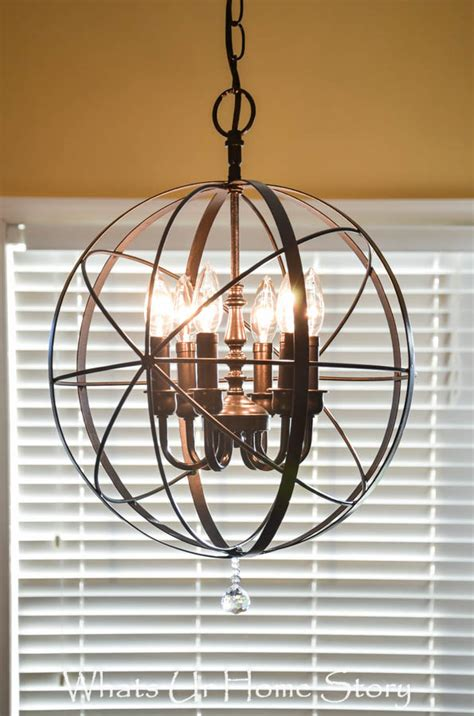 Orb Chandelier Diy by Diy Orb Chandelier Whats Ur Home Story