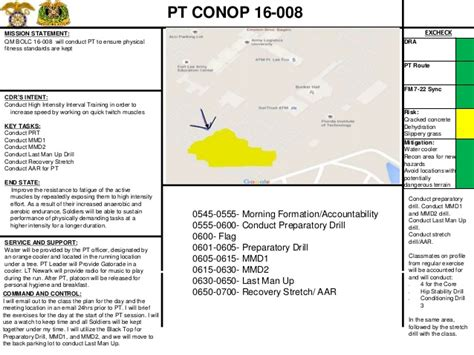 conops template army pt conop