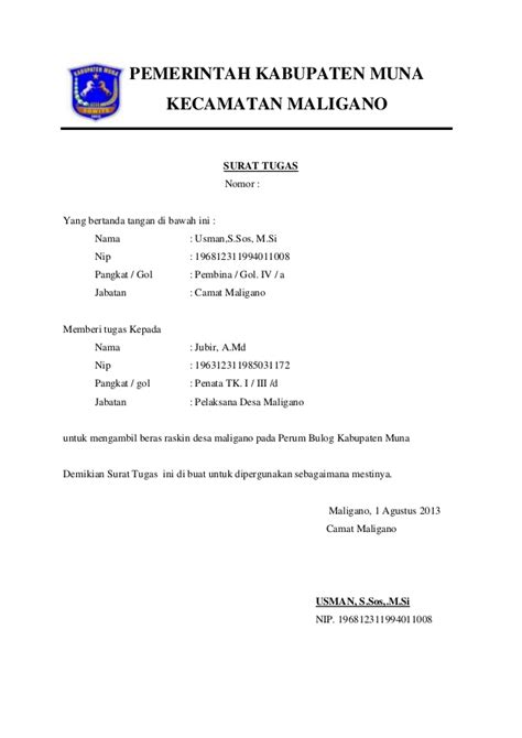 Contoh Surat Tugas Kerja by Surat Tugas