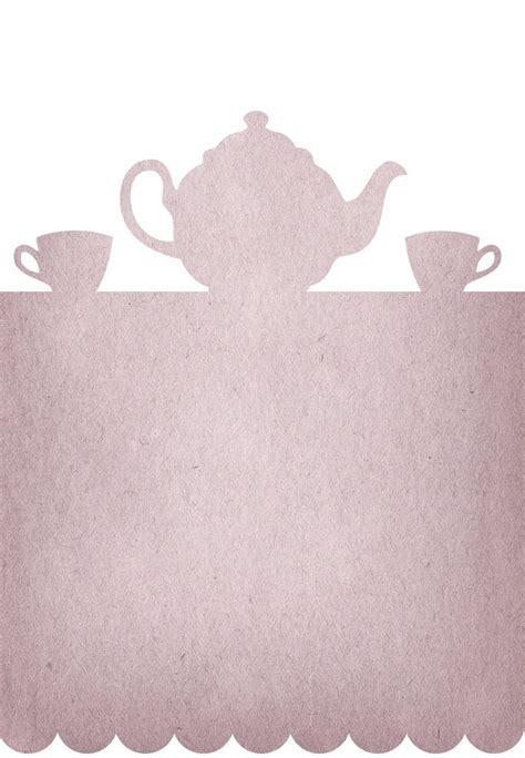 printable tea party invitation communication