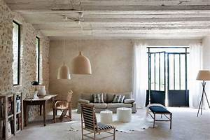 stylish contemporary farmhouse in provence interior With attractive idee couleur mur salon 8 renovation deco maison ancienne
