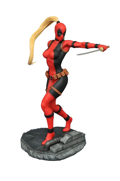 lady deadpool statue   inches  plastic murder ign