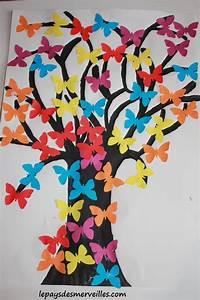 arbre a papillons collage nos activites le pays des With idee couleur peinture toilette 9 activites de paques maternelle