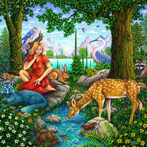 Mother Nature Painting Michael Fishel