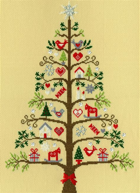 bothy threads scandi tree counted cross stitch kit xx