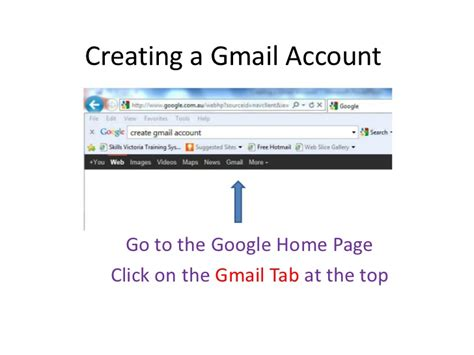 Www Gmail Login Home Page by Creating A Gmail Account